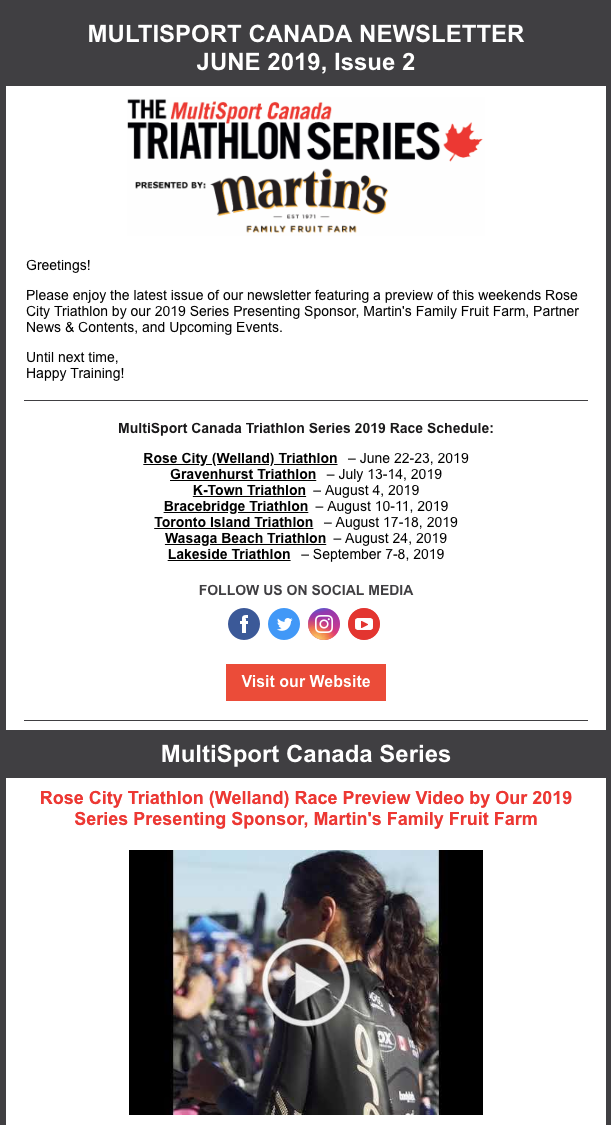 June 2019, Issue 2 Newsletter - The MultiSport Canada