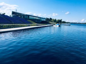 Figure 1.  Welland International Flatwater Centre where Barrelman racers will swim 2 km in a rectangular course.