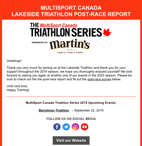 Lakeside Post-Race Report
